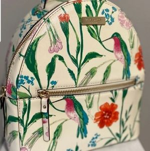 Kate Spade Floral Hummingbird mini backpack